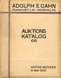 Livres d'occasion Cahn A., Francfort, vente aux enchères n° 66, 09.05.1930