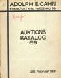 Livres d'occasion Cahn A., Francfort, vente aux enchères n° 69, du 26.02.1931