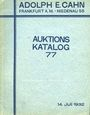 Livres d'occasion Cahn A., Francfort, vente aux enchères n° 77, du 14.07.1932