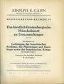 Livres d'occasion Cahn A., Francfort. Vente aux enchères n° 79, du 14.12.1932.