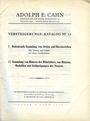 Livres d'occasion Cahn A., Francfort. Vente aux enchères n° 82, du 28.06.1933