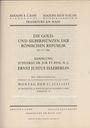 Livres d'occasion Cahn / Hess, vente aux enchères 17.07.1933. Sammlung Justizrat Dr. H. C. Ernest Justus Haeberlin