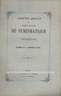 Livres d'occasion Comptes rendus de la Société Française de Numismatique. Tome 2. 1870