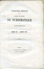 Livres d'occasion Comptes rendus de la Société Française de Numismatique. Tome 3. 1872
