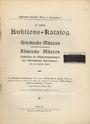 Livres d'occasion Egger B., Vienne, vente aux enchères n° 39, 15.01.1912.