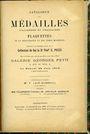 Livres d'occasion Feuardent / Sambon, Paris - Catalogue des médailles italiennes & françaises de coll feu S. POZZI