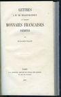 Livres d'occasion Fillon B., Lettres à M. Ch. Dugast-Matifeux sur quelques monnaies françaises inédites
