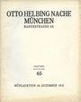 Livres d'occasion Helbing O., Munich. Auktions Katalog n° 65 du 10.12.1931