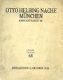 Livres d'occasion Helbing O., Munich. Auktions Katalog n° 68 du 11.10.1932