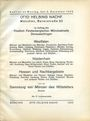 Livres d'occasion Helbing O., Munich. Auktions Katalog n° 69 du 05.12.1932