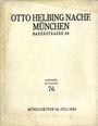 Livres d'occasion Helbing O., Munich. Auktions Katalog n° 76 du 18.07.1934
