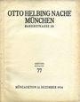 Livres d'occasion Helbing O., Munich. Auktions Katalog n° 77 du 12.12.1934