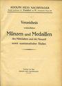Livres d'occasion Hess A., Francfort, vente aux enchères (n° 181) 1925