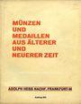 Livres d'occasion Hess A., Francfort. Vente aux enchères n° 193, 18.03.1929