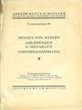 Livres d'occasion Hess A., Francfort. Vente aux enchères n° 196, 21.10.1929