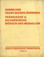 Livres d'occasion Hess A., Francfort. Vente aux enchères n° 201, 23.06.1930