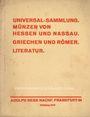 Livres d'occasion Hess A., Francfort, vente aux enchères n° 202, 28.10.1930