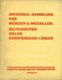 Livres d'occasion Hess A., Francfort. Vente aux enchères n° 203,  16.02.1931