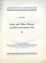 Livres d'occasion Hess A., Francfort. Vente aux enchères n° 206, 04.11.1931
