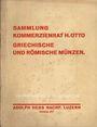Livres d'occasion Hess A., Lucerne, vente aux enchères n° 207, 01.12.1931. Sammlung Kommerzienrat H. Otto