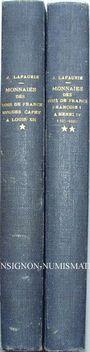 Livres d'occasion Lafaurie J. & Prieur P., Les monnaies des rois de France. Vol I et II. 1951-56. 2 volumes