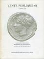 Livres d'occasion Monnaies et Médailles, Bâle, vente aux enchères n° 68, des 15.04.1986