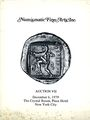 Livres d'occasion Numismatic Fine Arts. Vente n° VII, du 06.12.1979