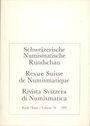 Livres d'occasion Revue suisse de numismatique. 1991