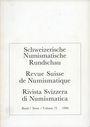 Livres d'occasion Revue suisse de numismatique. 1996