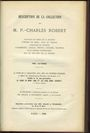 Livres d'occasion ROBERT - (collection, monnaies de Lorraine). Vente Rollin/Feuardent du 29 mars 1886 et jours ss