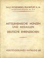 Livres d'occasion Rosenberg Sally. Auktions Katalog n° 68 du 25.11.1929