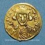 Coins Lombards. Bénévent. Romuald II (706-731). Trémissis au nom de Justinien