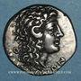 Monnaies Macédoine sous domination romaine. Aesilas, questeur (vers 90-75 av. J-C). Tétradrachme