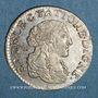 Coins Monaco. Louis I (1662-1701). 1/12 écu ou 5 sols, luigino 1667. Imitation de Dombes