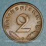 Monnaies 3e Reich (1933-1948). 2 reichspfennig 1938 G