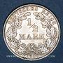 Monnaies Allemagne. 1/2 mark 1906 E