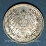 Monnaies Allemagne. 1/2 mark 1906D