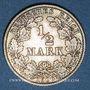 Monnaies Allemagne. 1/2 mark 1906G