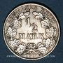 Monnaies Allemagne. 1/2 mark 1908G
