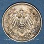 Monnaies Allemagne. 1/2 mark 1909 E