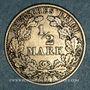 Monnaies Allemagne. 1/2 mark 1911 D