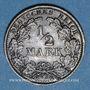 Monnaies Allemagne. 1/2 mark 1918 G