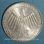 Monnaies Allemagne. 10 mark 1972 D. Jeux olympiques. Spirale, in München