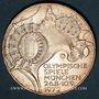 Monnaies Allemagne. 10 mark 1972 D. Jeux olympiques. Stade