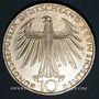 Monnaies Allemagne. 10 mark 1972D. Jeux olympiques. Sportif et sportive