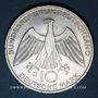 Monnaies Allemagne. 10 mark 1972D. Jeux olympiques. Symbole d'Union