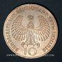Monnaies Allemagne. 10 mark 1972F. Jeux olympiques. Flamme