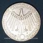 Monnaies Allemagne. 10 mark 1972J. Jeux olympiques. Spirale, in München