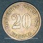 Monnaies Allemagne. 20 pfennig 1874 F