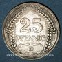 Monnaies Allemagne. 25 pfennig 1909 D